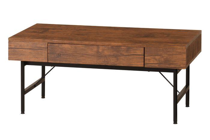 センターテーブル(引出付) VT-CH900(BR) / ブラウン / 4933178120934 弘益 / テーブル センターテーブル ローテーブル