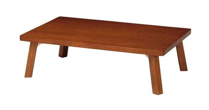 テーブル(折脚) TZ-1275(BR) / ブラウン / 4933178127407 弘益 / テーブル センターテーブル ローテーブル