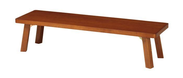 テーブル(折脚) TZ-1545(BR) / ブラウン / 4933178127414 弘益 / テーブル センターテーブル ローテーブル