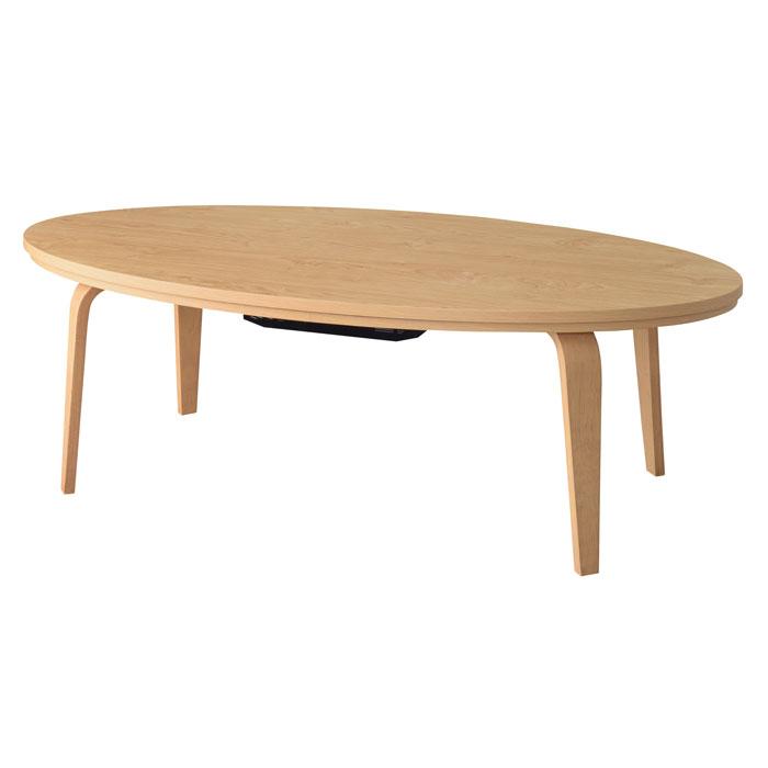 東谷 センターテーブル / コタツテーブル KT-114NA / 座卓 こたつ テーブル 楕円形 オーバル / 4985155206636