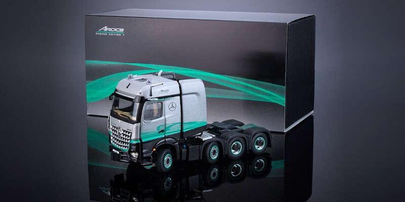 imc models 1/50 MB アロクス STL 8x4 レーシング エディション1 IMC330117 / メルセデスベンツ / トラック / 1/50スケール / 京商ダイキャスト