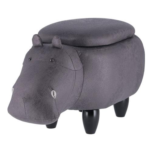 アニマルスツール収納付き カバ 椅子 動物