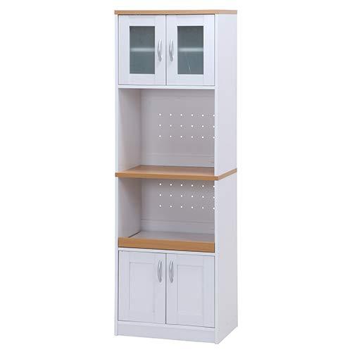 レンジボード サージュ WH×NA 60幅 収納家具 キッチン収納