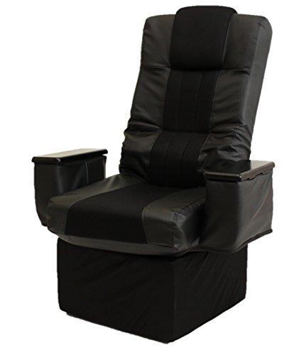 谷村実業 木肘小物入れ付きハイタイプ回転座椅子 / TAN-856 / 4560258458511