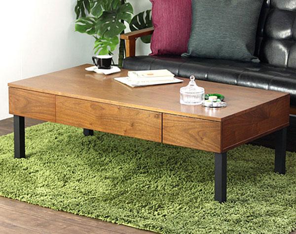【 テーブル / IW-230 】 センターテーブル 収納付き 引き出しつき 幅120cm 奥行き60cm 高さ40cm