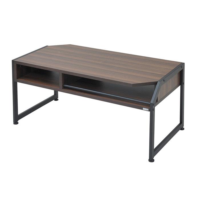 【 Re・conte Rita series Center Table / ブラック 】 センターテーブル / アジャスター リモコン立てスペース 棚付 収納付 おしゃれ インダストリアルデザイン / RT-007-BK
