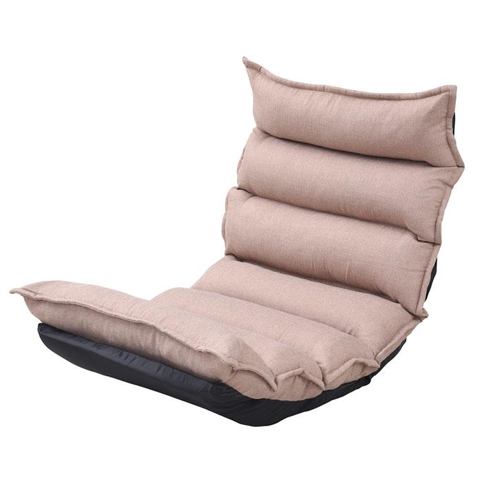 【 国産(日本製)座椅子 座り心地NO-1!もこもこリクライニングチェア / ベージュ 】 座椅子 / リクライニング ハイバック もこもこ 日本製 国産 一人暮らし 敬老の日 父の日 母の日 シンプル カジュアル かわいい / ZSS-0003-BE