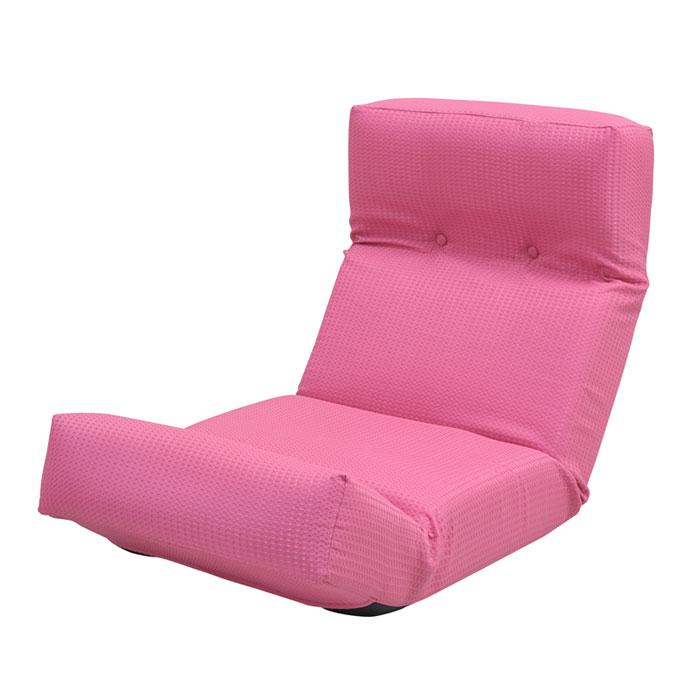 【 新ハイバックチェア / ピンク 】 座椅子 / リクライニング 日本製 国産 撥水 ハイバック 一人暮らし シンプル おしゃれ かわいい / ZSY-NHBCK-PK