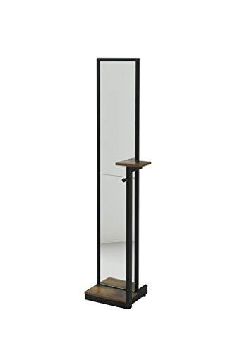 スタンドミラー KKS-0020-BKBR JKプラン ジェイ・ケイ・プラン株式会社 インダストリアル スタンドミラー 幅40 奥行30 高さ160 小物置き 付き 全身鏡 姿見 西海岸 アンティーク ヴィンテージ BKBR