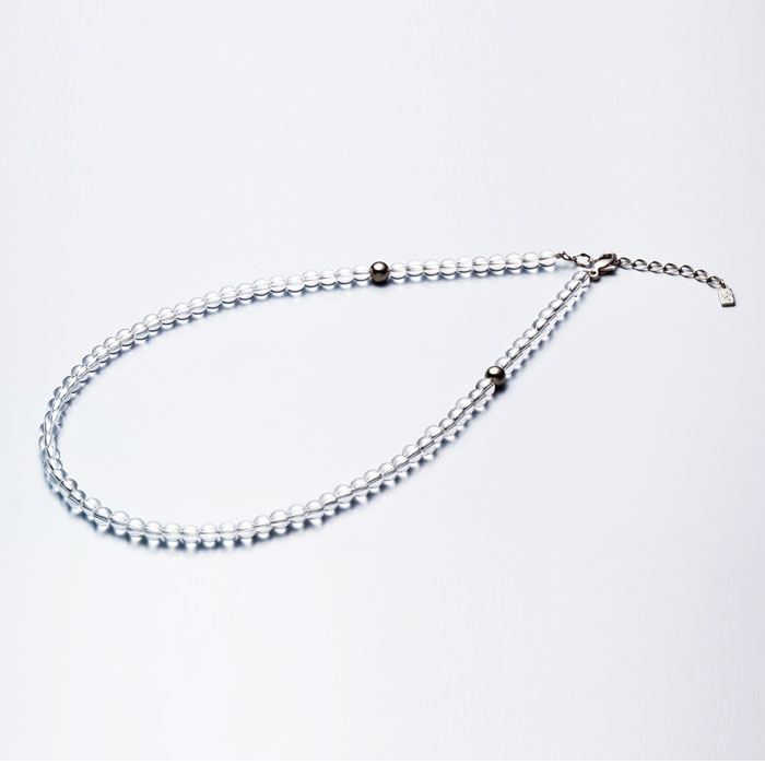 ファイテン(phiten) 水晶ネックレス(5mm) 40cm(+5cmアジャスター) 0515AQ808051