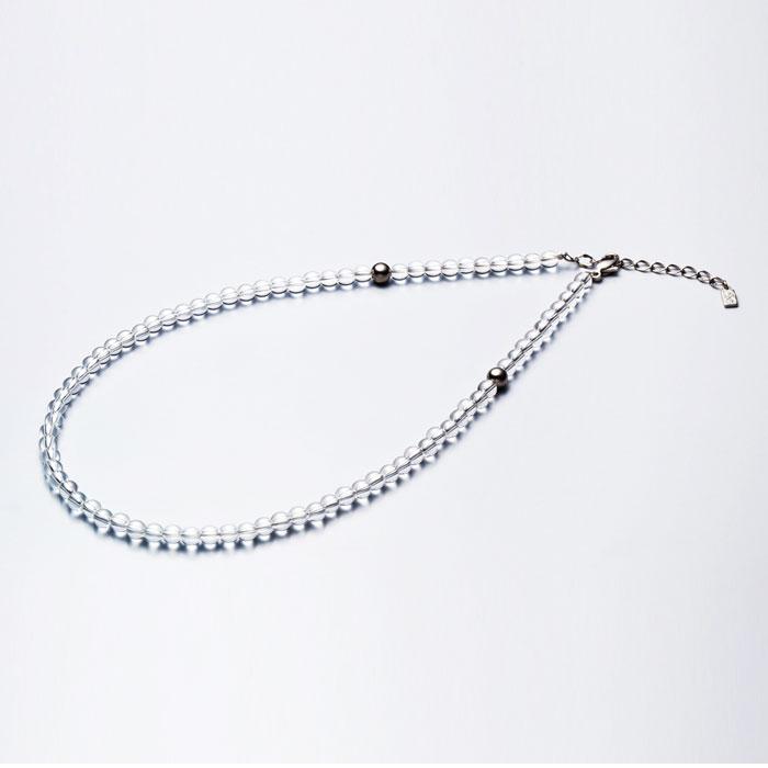 ファイテン(phiten) 水晶ネックレス(5mm) 50cm(+5cmアジャスター) 0515AQ808053