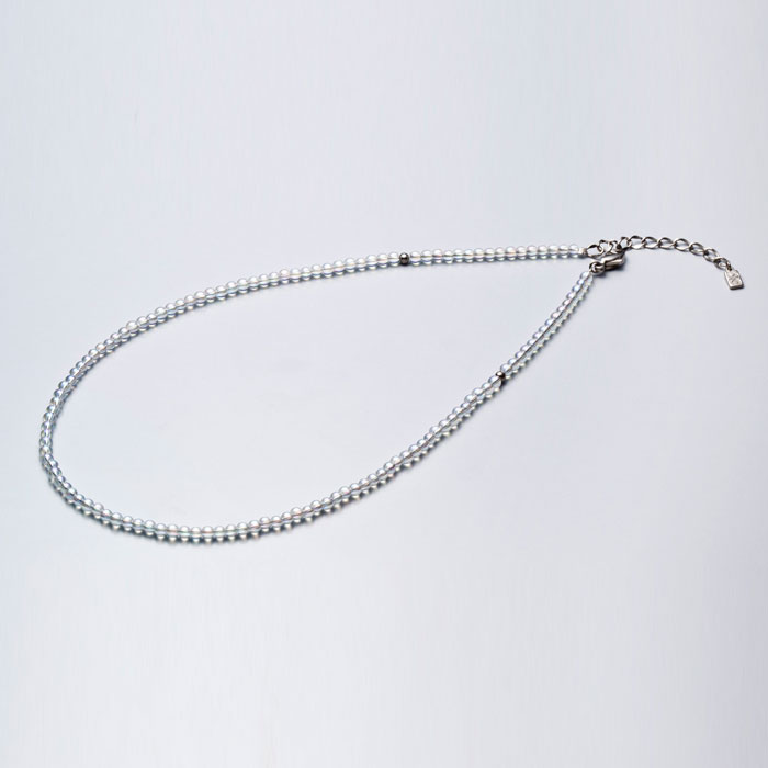 ファイテン(phiten) チタン水晶ネックレス(3mm) 40cm(+5cmアジャスター) 0515AQ812051