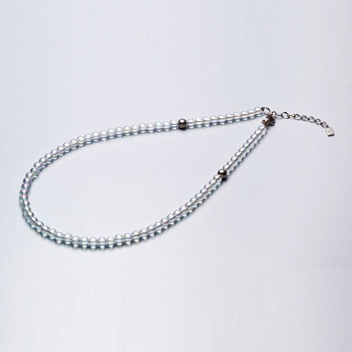 ファイテン(phiten) チタン水晶ネックレス(5mm) 50cm(+5cmアジャスター) 0515AQ814053