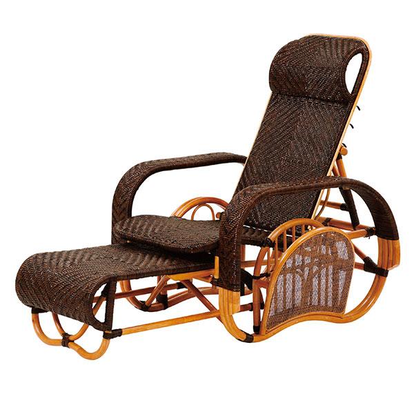 サンフラワーラタン 【 ラタン手編み リクライニングチェア / M505CB 】 インテリア イス 椅子 チェアー リクライニングチェア