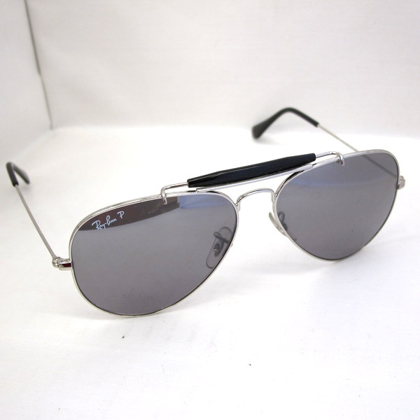 996bd329346a5 Ray-Ban RayBan sunglasses RB3407 003 K3 58 □ 14 3P glasses glasses silver  black mirror gray men rare Higashiosaka shop