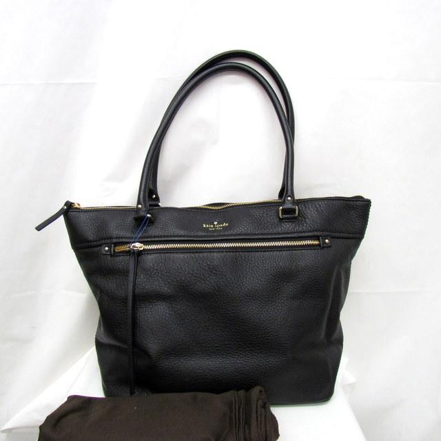 Next51 Kate Spade New York Kate Spade Tote Bag Black Gold Leather