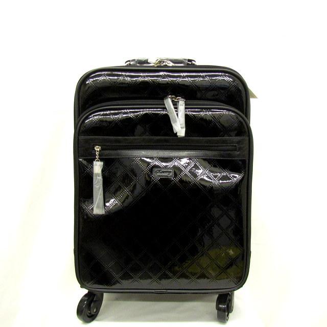 SWANY スワニー スーツケース 旅行バッグ キャリーバッグ ウォーキングバッグ ブラック 黒 エナメル レディース 鞄 かばん 東大阪店【中古】