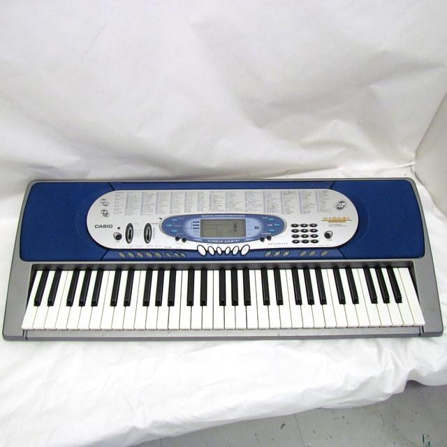 CASIO カシオ 電子ピアノ 光ナビゲーション キーボード 鍵盤楽器 61鍵盤 LK-65 シルバー ブルー 120曲搭載 東大阪店【中古】