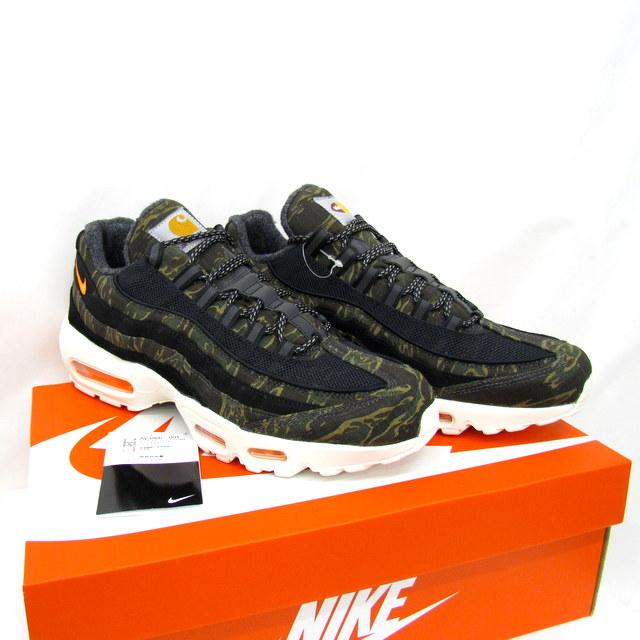 Higashiosaka store with the NIKE X CARHARTT Nike X car heart sneakers Air  Max 95 WIP AIR MAX 95 AV3866-001 black tiger duck TIGER CAMO 27.5cm US9.5  shoes ... 39000da01