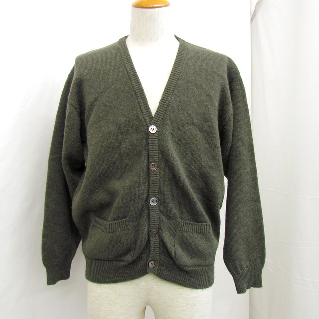 83c8e980f0b Moss-green button men light outer business casual plain T Higashiosaka shop  made in Y s For men Wise four men cardigan long sleeves Japan