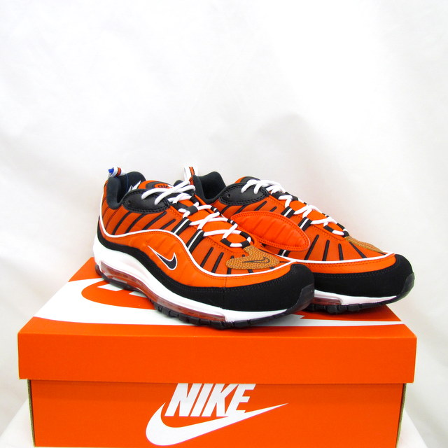 exquisite style hot products sleek T Higashiosaka store with the NIKE Nike sneakers AIR MAX 98 Air Max 98  640,744-604 HABANERO RED BLACK WHITE red black white casual shoes motion ...