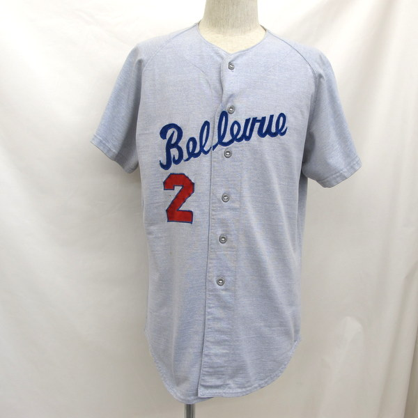 8871b3e92 Vintage Wilson Wilson baseball shirt 50-60s USA short sleeves button shirt  Bellevue 2 stitch ...