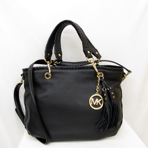 94b16c4f52a4 Take the slant with the MICHAEL KORS Michael Kors bag tote bag shoulder bag  2WAY black gold metal fittings tassel charm shoulder strap  lady s bag bag  ...