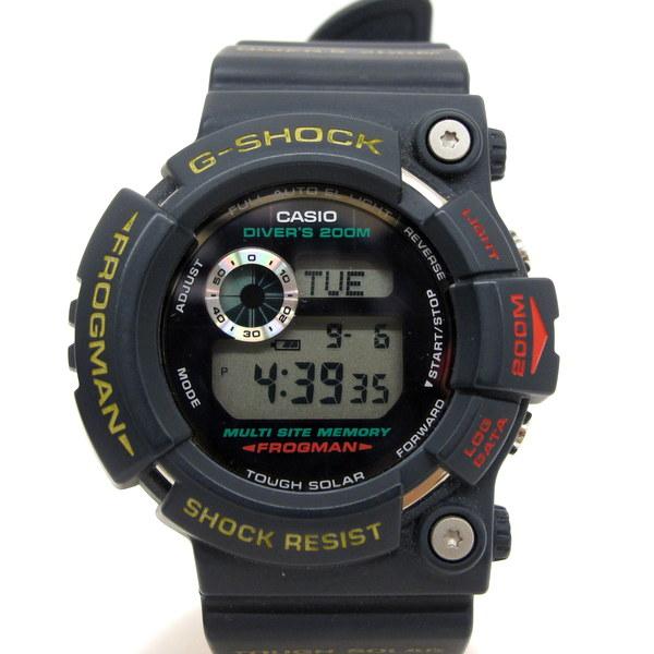 G-SHOCK ジーショック CASIO カシオ 腕時計 ウォッチ フロッグマン デジタル GW-200-2JF ダイビング タフソーラー スクリューバック デイト マスターオブG グレー メンズ 東大阪店 124482 【USED】