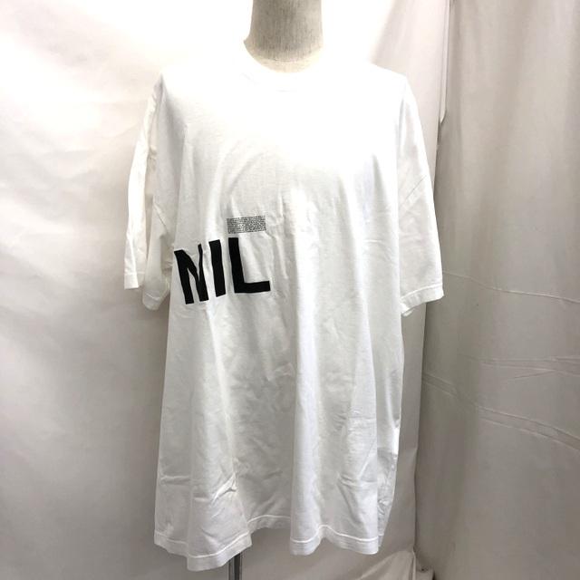 NILoS ニルズ Tシャツ HADAL ZONE; 2 NILロゴ 2019S/S ホワイト コットン 半袖 サイズ3 日本製 トップス メンズ T東大阪店【中古】