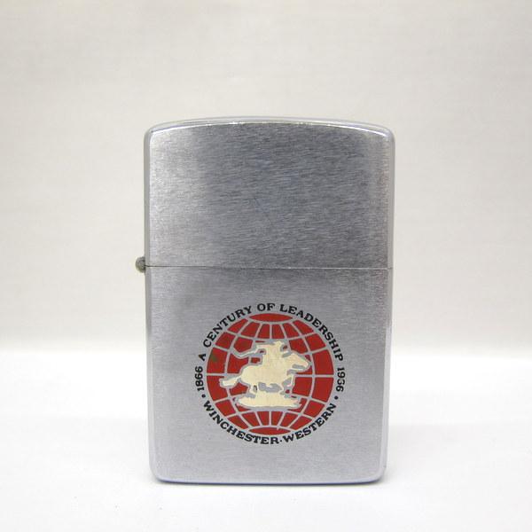 Zippo ジッポ オイルライター シルバー レッド Winchester Western A Century of Leadership 1966年製 PAT.2517191 ヴィンテージ 喫煙具 替えウィック付き 東大阪店【中古】