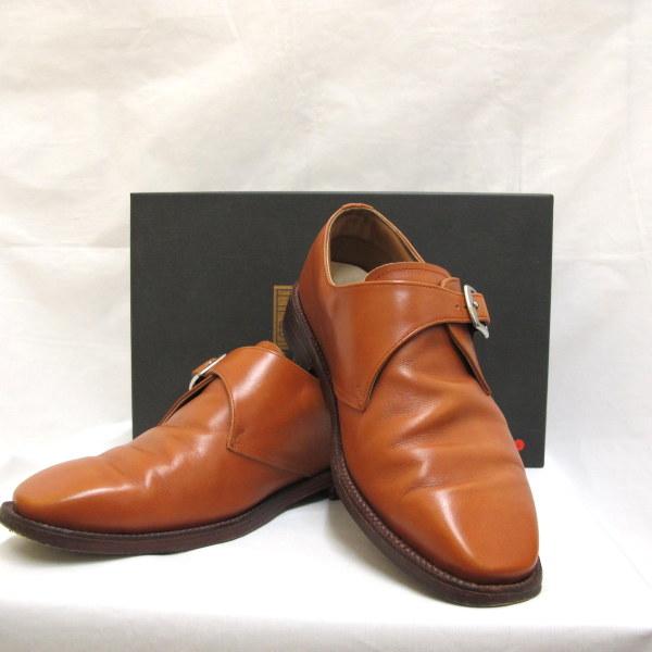 メンズ革靴ビジネスシューズビスポークシューズレザーブラウン銀座大賀靴工房オーダーメイド箱付き