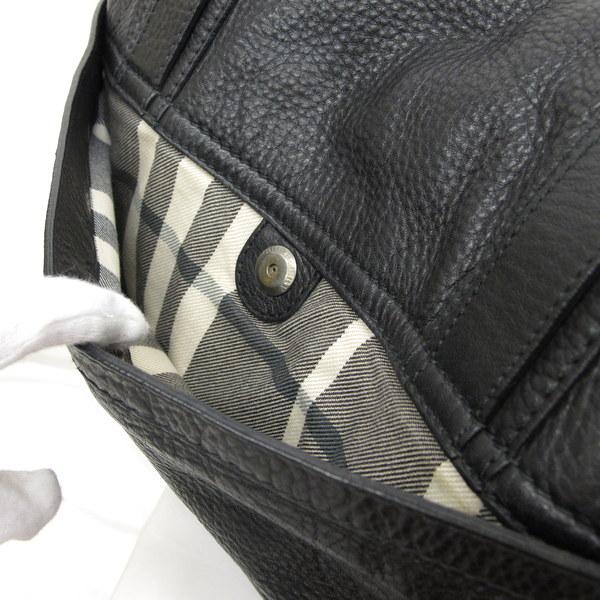 Take Burberry Black Label Bag Cross Messenger Slant Leather Men Higashiosaka