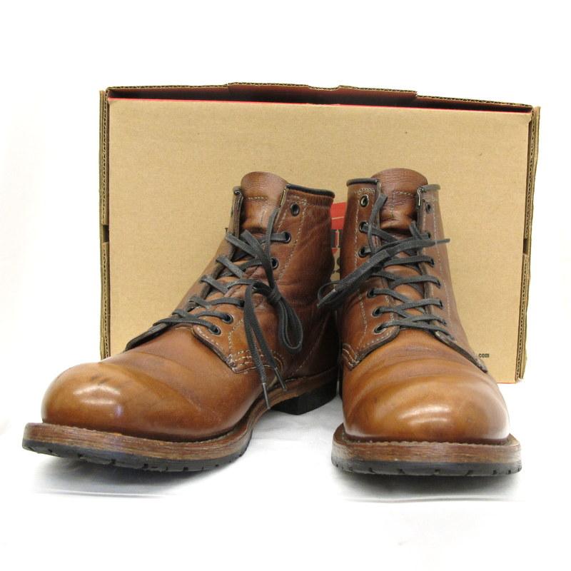 RED WING レッドウィング ブーツ 9016 BECKMAN CIGAR ベックマン シガー ラウンド ブラウン サイズ9 D MADE IN U.S.A 箱付き 靴 くつ シューズ 編み上げ メンズ 東大阪店【USED】