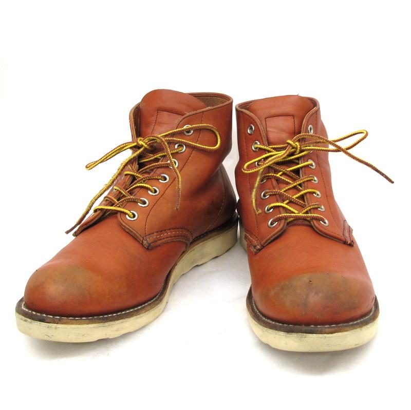 REDWING レッドウィング ブーツ 8166 クラシックワーク 赤茶 プレーントゥ レースアップ メンズ 靴 レザー シューズ 9D 27cm MADE IN USA メンズ 東大阪店【中古】