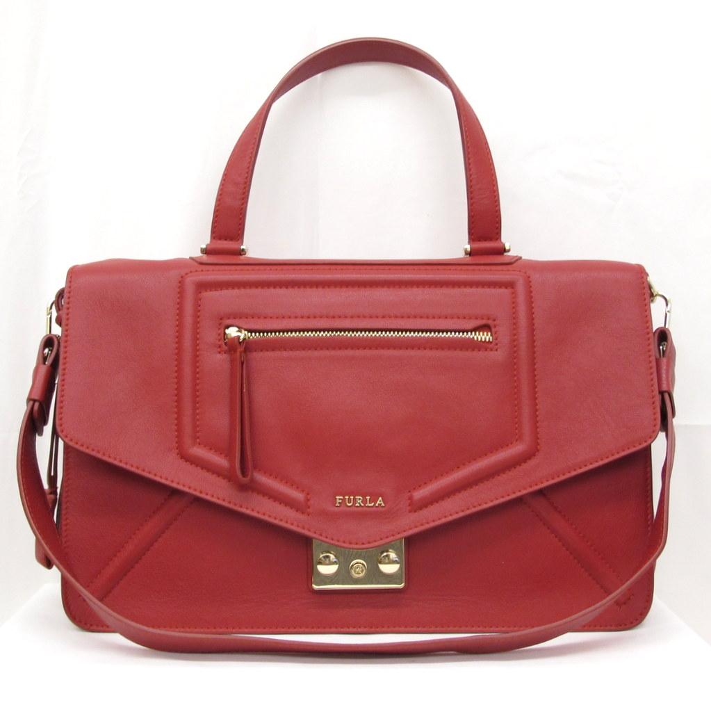 1db6aba8ed2a FURLA フルラ バッグ ハンドバッグ ショルダーバッグ 2WAY レッド 鍵付き 赤 レディース 鞄 かばん 東大阪