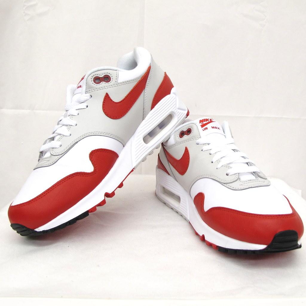 NIKE AIR MAX ナイキ エア マックス スニーカー 90/1 ホワイト レッド 白 赤 サイズ26.5cm AJ7695 100 メンズ シューズ 靴 東大阪店【USED】