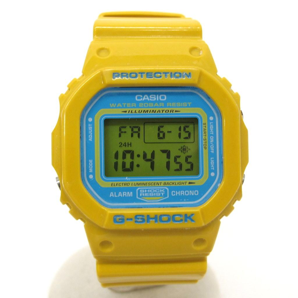 G-SHOCK ジーショック CASIO カシオ 腕時計 DW-5600CS-9 クレイジーカラーズ Crazy Colors デジタル クォーツ スピード イエロー スカイブルー スクエアフェイス メンズ レディース 東大阪店 252680【USED】