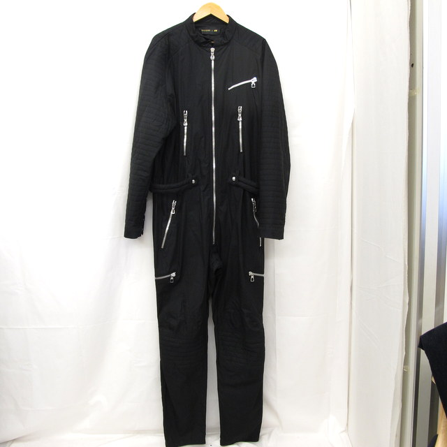 BALMAIN × H&M バルマン エイチアンドエム つなぎ ジャンプスーツ ブラック Lサイズ コラボ メンズ 東大阪店【中古】