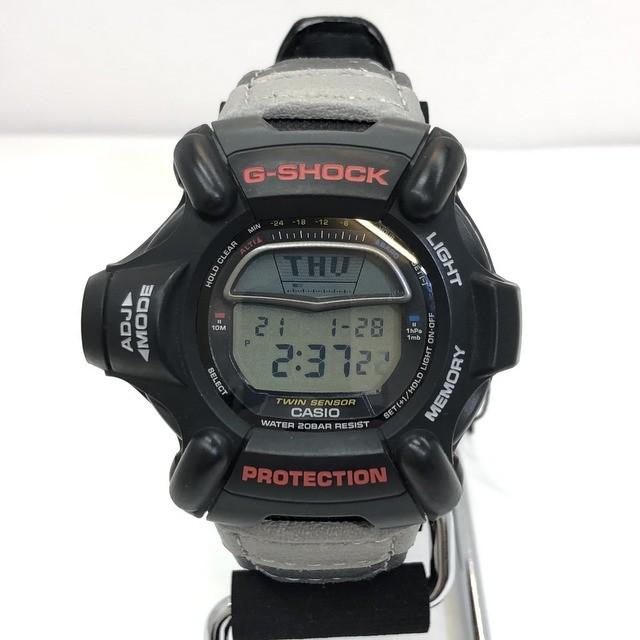 G-SHOCK ジーショック CASIO カシオ 腕時計 DW-9100BJ-1A RISEMAN 卓抜 ライズマン ブラック グレー ※ラッピング ※ 気圧計測機能 温度計測機能 ケース 中古 IT4PCYUI3A54 RY4227 製品タグ メンズ デジタル T東大阪店 高度計測機能