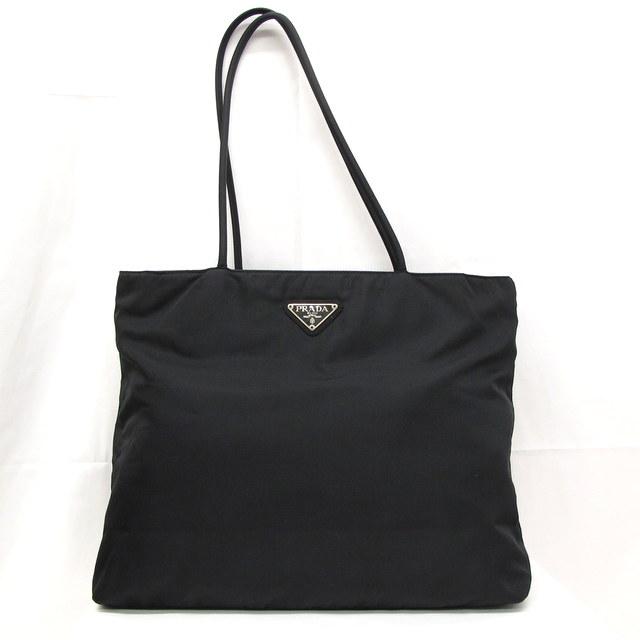 Bag Higashiosaka 217191 Made In Prada Tote Shoulder Black Triangle Plate Lady S Italy