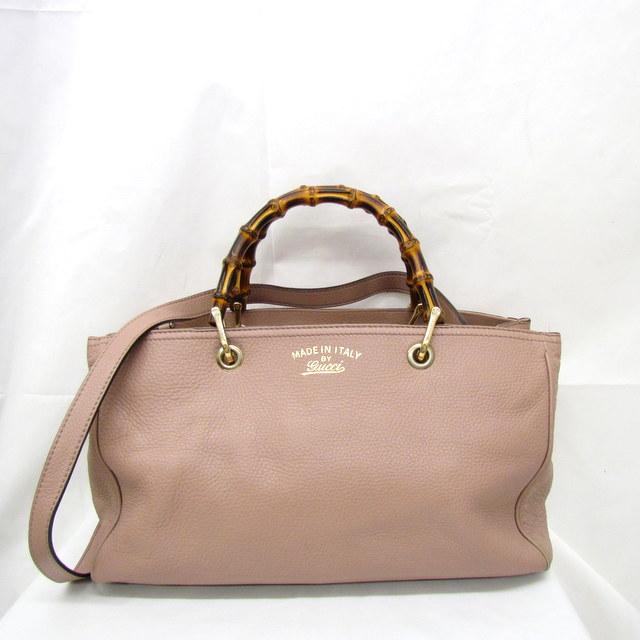 323660 Lady S Bag Higashiosaka 269558 With The Gucci Handbag Shoulder 2way Leather Pink Bamboo Strap