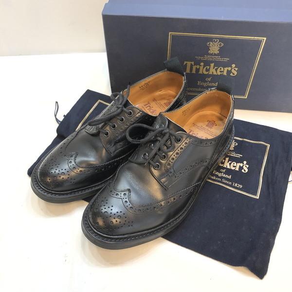 Tricker's トリッカーズ ウイングチップ メダリオン カントリー コマンドソール 靴 country 外羽 ビジネスシューズ カジュアル fitting5 M1254 男性 black 物品 MENS ENGLAND製 RKR182J 黒 ITD0IBTLK146 中古 27 紳士 メンズ 貝塚店 ブラック 数量限定