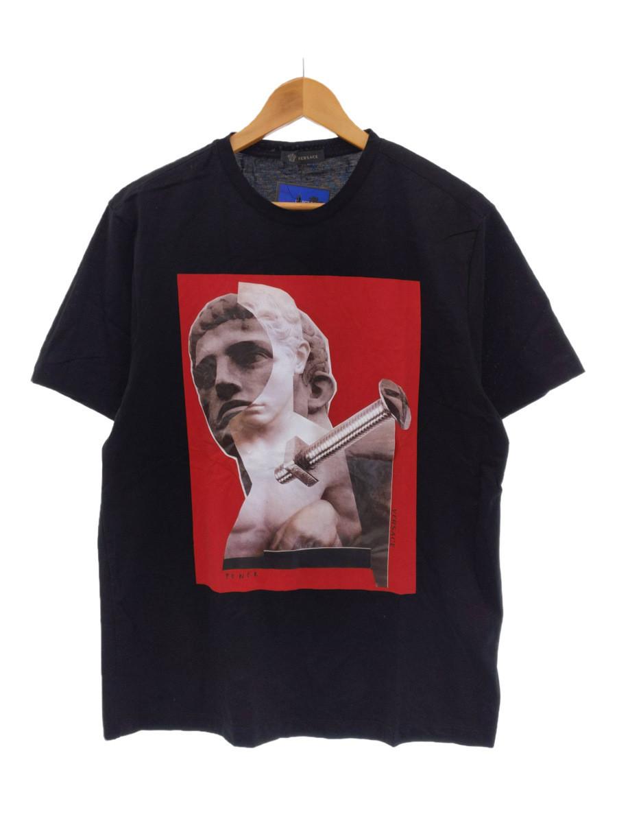 VERSACE ヴェルサーチェ プリントTシャツ メンズ ブラック イタリア製 ITNDAMU3LL5S ブランド RM24M A77944 ショッピング 買物 三国ケ丘店 中古
