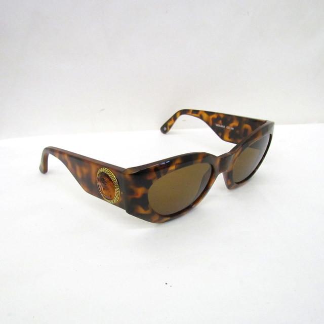 GIANNI VERSACE ジャンニ ヴェルサーチ サングラス メデゥーサ べっ甲 ブラウン 420 E T東大阪店 ITU1GGRC9HTC ケース 中古 レディース 最新号掲載アイテム メガネ 買い物 イタリア製 眼鏡 RYB6841 アイウェア