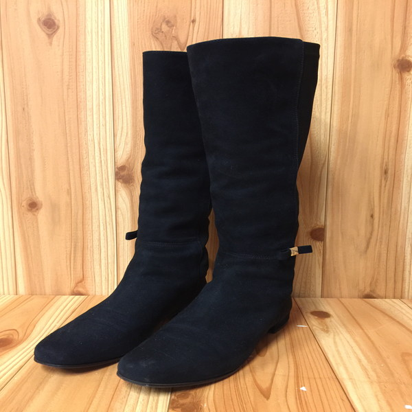 01cbb8a74 It is shoes shoes black black secondhand clothes store NEXT shell mound shop  RK8867 KATE SPADE Kate spade stretch long boots suede cloth black 5