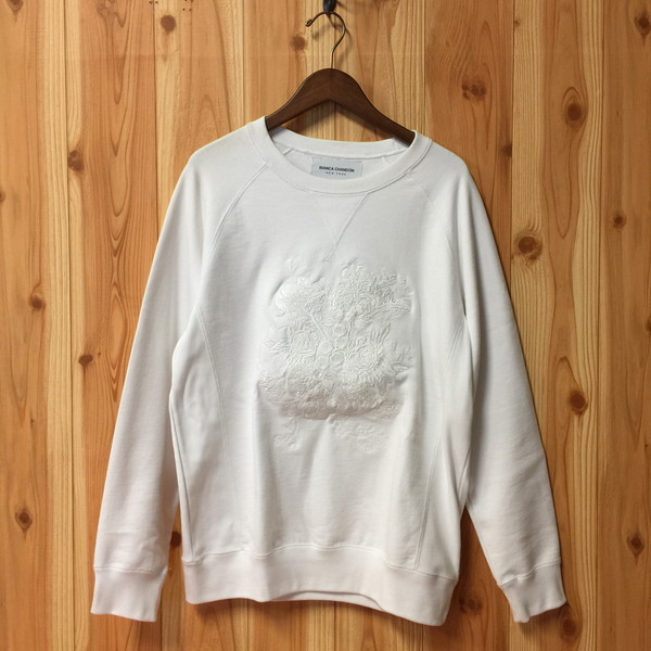 5de1ae8f799268 BIANCA CHANDON Bianca beautifulness Don 2016AW Floral Crewneck embroidery  sweat shirt men medium size Alex Olson Alex Olson trainer white floral  design ...