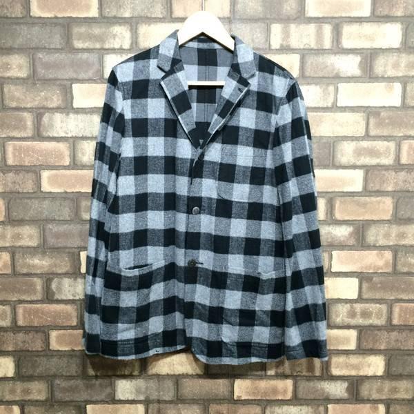 05e1eba3ab24f Mikunigaoka store 102294 RM1327 with the BEAMS BEAMS Co., Ltd. jacket  checked pattern flannelette black gray long sleeves men outer medium size  cotton ...