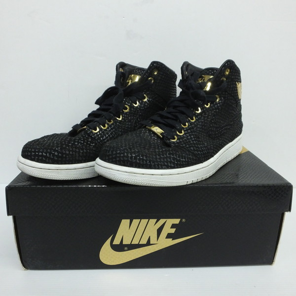 newest eb344 97a09 NIKE Nike Air Jordan 1 AIR JORDAN 705,075-030 Pinnacle black metallic gold  white summit sneakers shoes men 28cm Mikunigaoka store 653994 RM995N