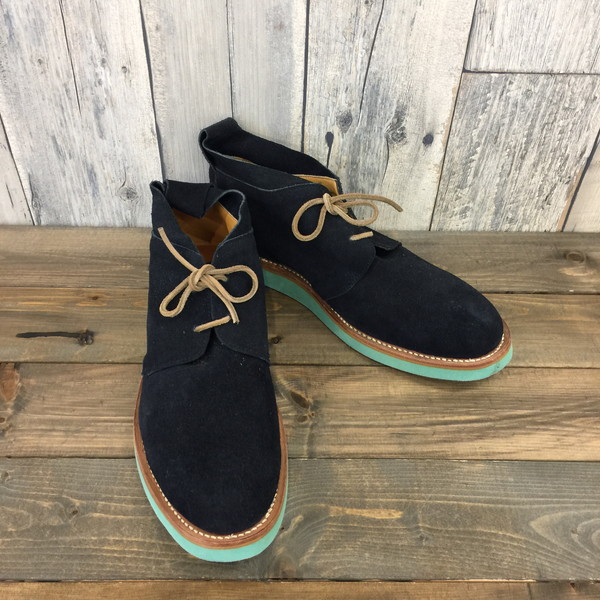 112ed6e7b unmarked アンマークド 28 centimeters select shoes shoes shoes navy suede cloth  men secondhand clothes store NEXT ...