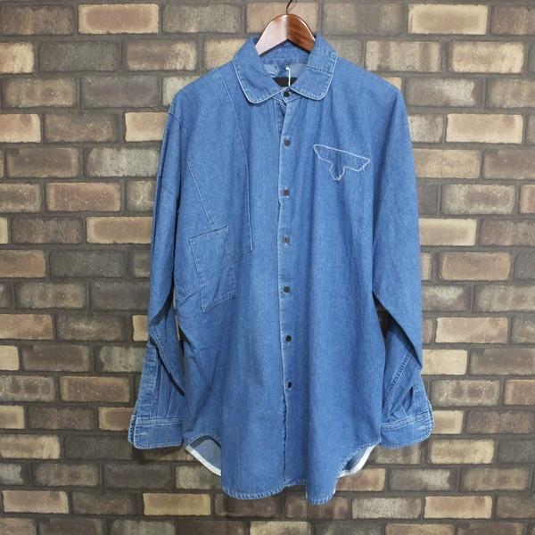 1cb74090b5 NEON SIGN neon sign Bohemian Anarchy Shirts 16ss long sleeves dungarees  shirt denim shirt tops light blue men F Mikunigaoka store 321688 RM1355N